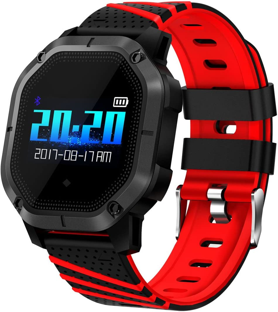 Pard Womens Smart Watch, Fashion Heart Rate Blood Pressure Activity Fitness Tracker (H Red)