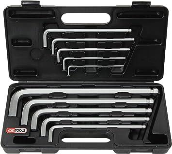 KS Tools 151.2150 Pack Llaves Allen con Cabeza de Bola y hexágono Interior, Modelo Extra Largo (tamaño: 3-17 mm), Set de 10 Piezas: Amazon.es: Bricolaje y herramientas