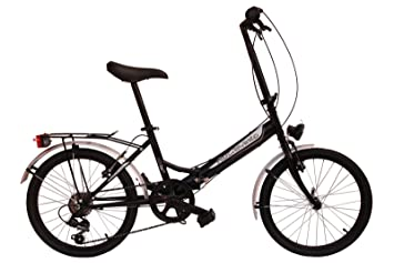 Bicicleta plegable Rocasanto HOP-ON ST, tamaño ruedas 20, color negro