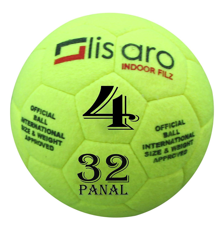 Lisaro Indoor - Balón de fútbol Sala de Fieltro, Talla 4, Pelota ...