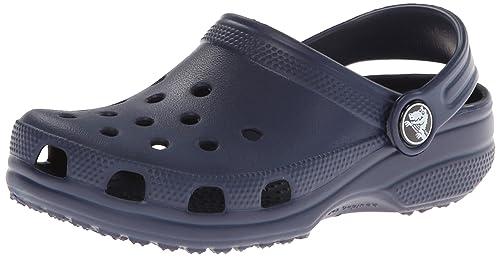 Crocs Classic Kids Unisex Croslite Clogs Navy UK 4/5 (Infant)