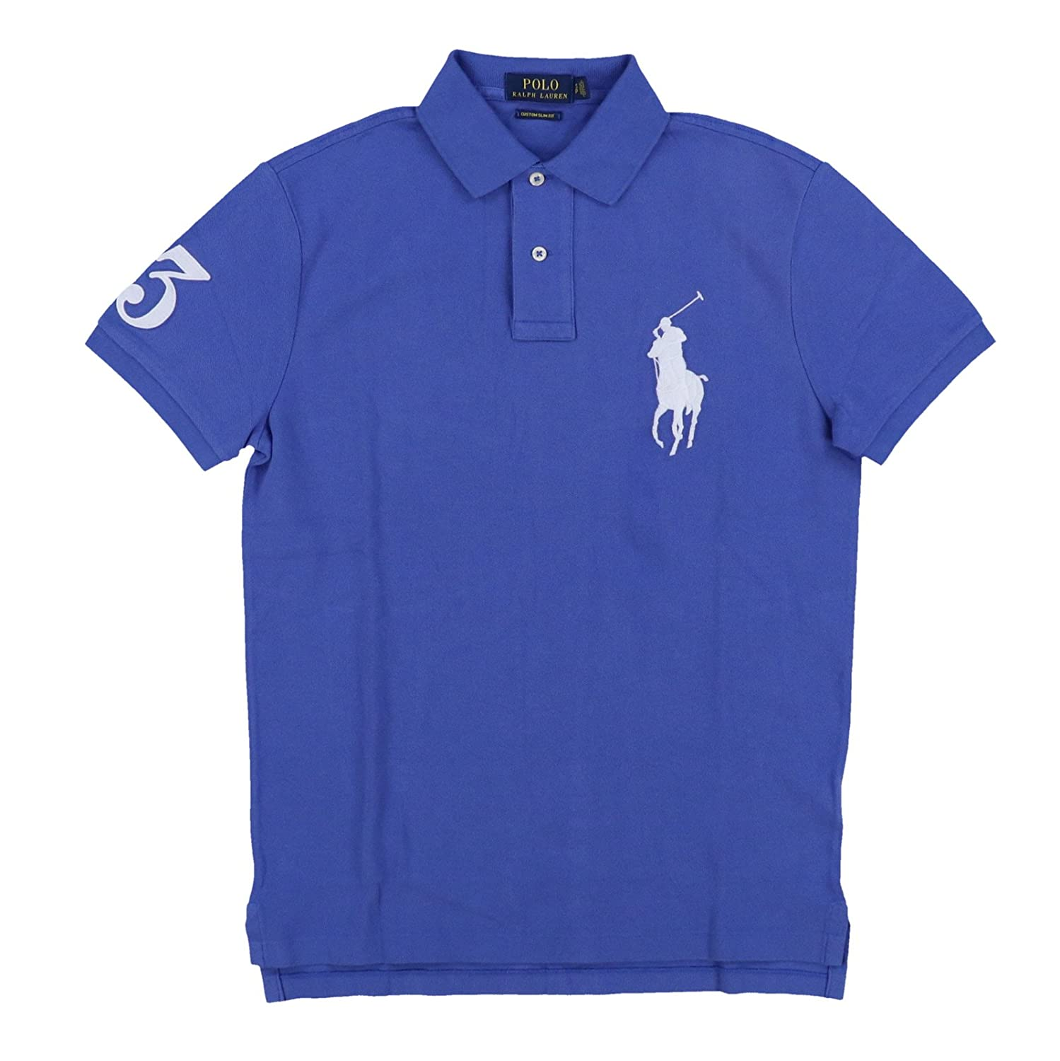 1d9e1da7a Polo Ralph Lauren Features the signature embroidered big pony logo. Custom  Slim Fit Ribbed armbands and collar. Uneven, vented hem