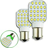 2 Pack Rotating Super Bright 300 Lumen 1141 1156 Wedge RV Interior LED Light 24-