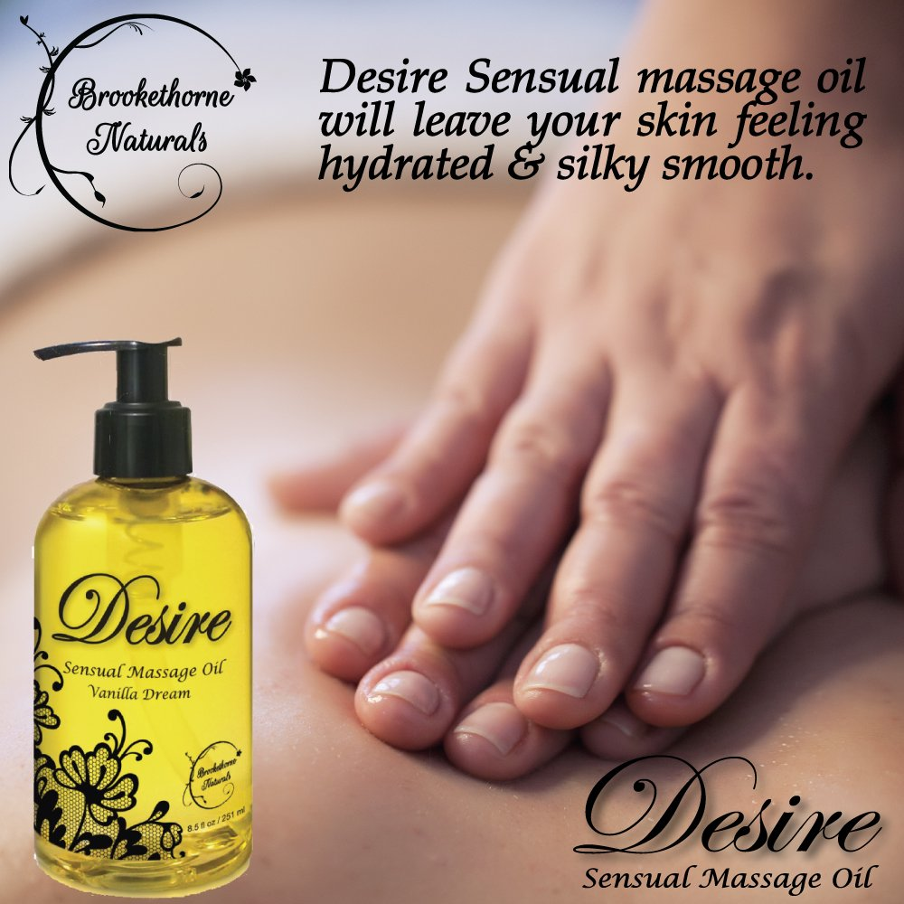 Amazon Com Desire Sensual Massage Oil Best Massage Oil For Couples Massage Perfect Gift For Her All Natural Contains Sweet Almond