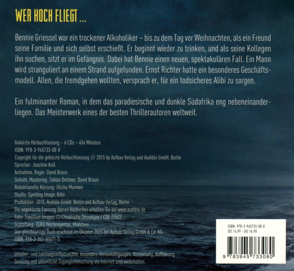 Icarus: Thriller Gelesen von Joachim Król Benny Griessel Romane ...