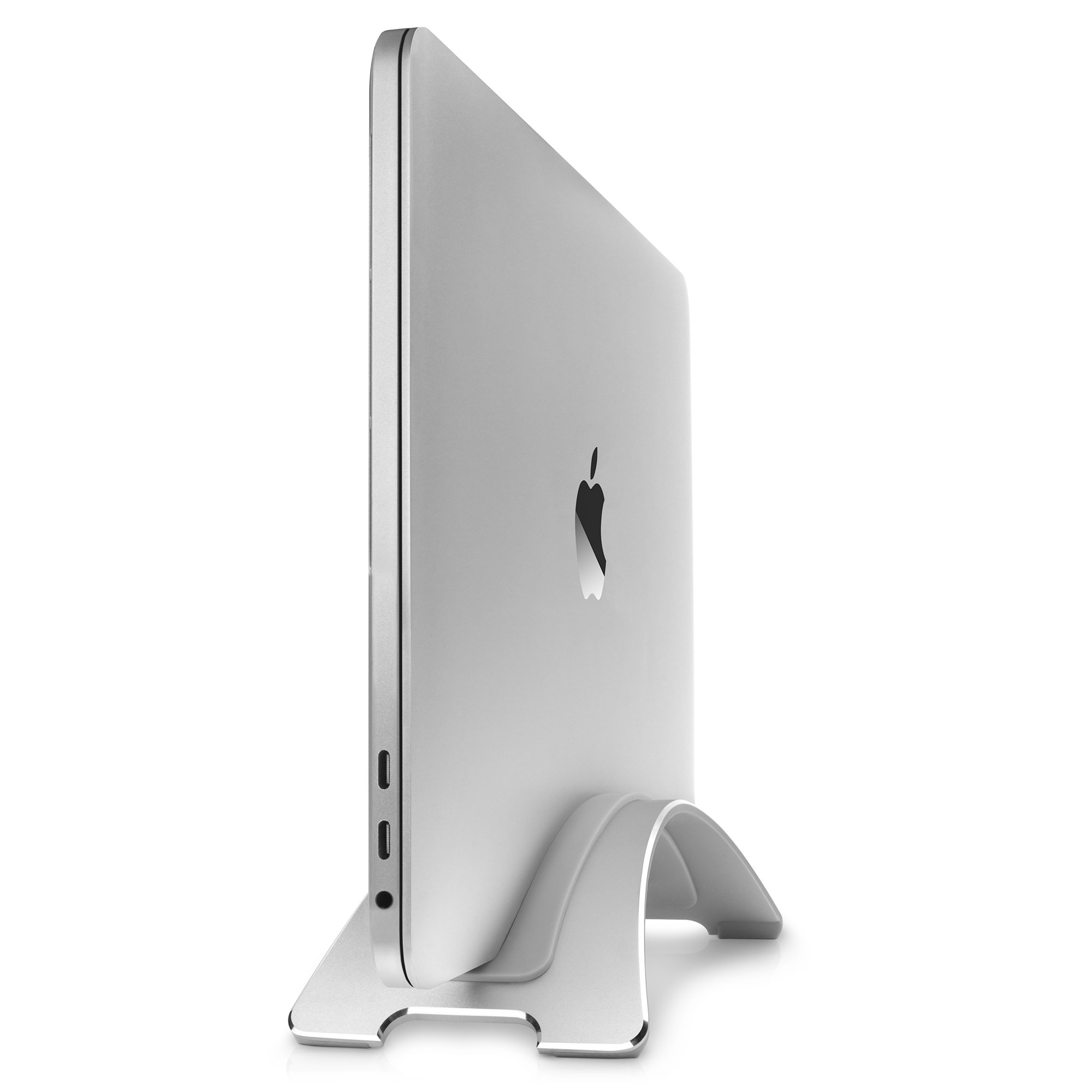 Twelve South BookArc for MacBook, silver | Space-saving vertical desktop stand for Apple notebooks