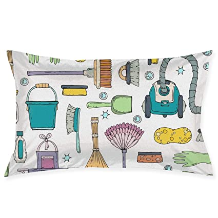 Amazon SKYISOK Vacuum Cleaner Pattern Pillowcases Decorative Best Cleaning Decorative Pillows