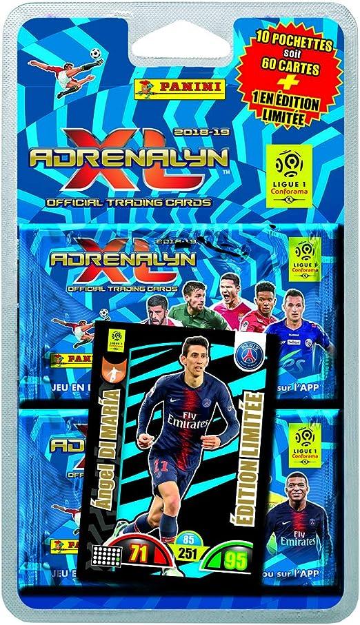 Panini Francia sa SA- Foot Adrenalyn 2018 – 2019 Blister 10 fundas + 1 (tarjeta edición limitada Parmi 4 en aleatorio), 2418 – 043 , color/modelo surtido: Amazon.es: Juguetes y juegos