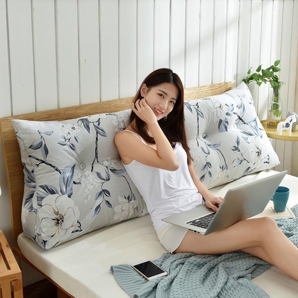 LIANGJUN クッション 背もたれ枕 バックレスト ベッドサイド 枕 キャンバス 子宮頸を保護する 腰部パッド 通気性のある 吸湿性の ウォッシャブル 多機能 読書 家庭用品、 7色 (色 : 3#, サイズ さいず : 150X50X20cm) B07F1GTH1G 150X50X20cm|3# 3# 150X50X20cm