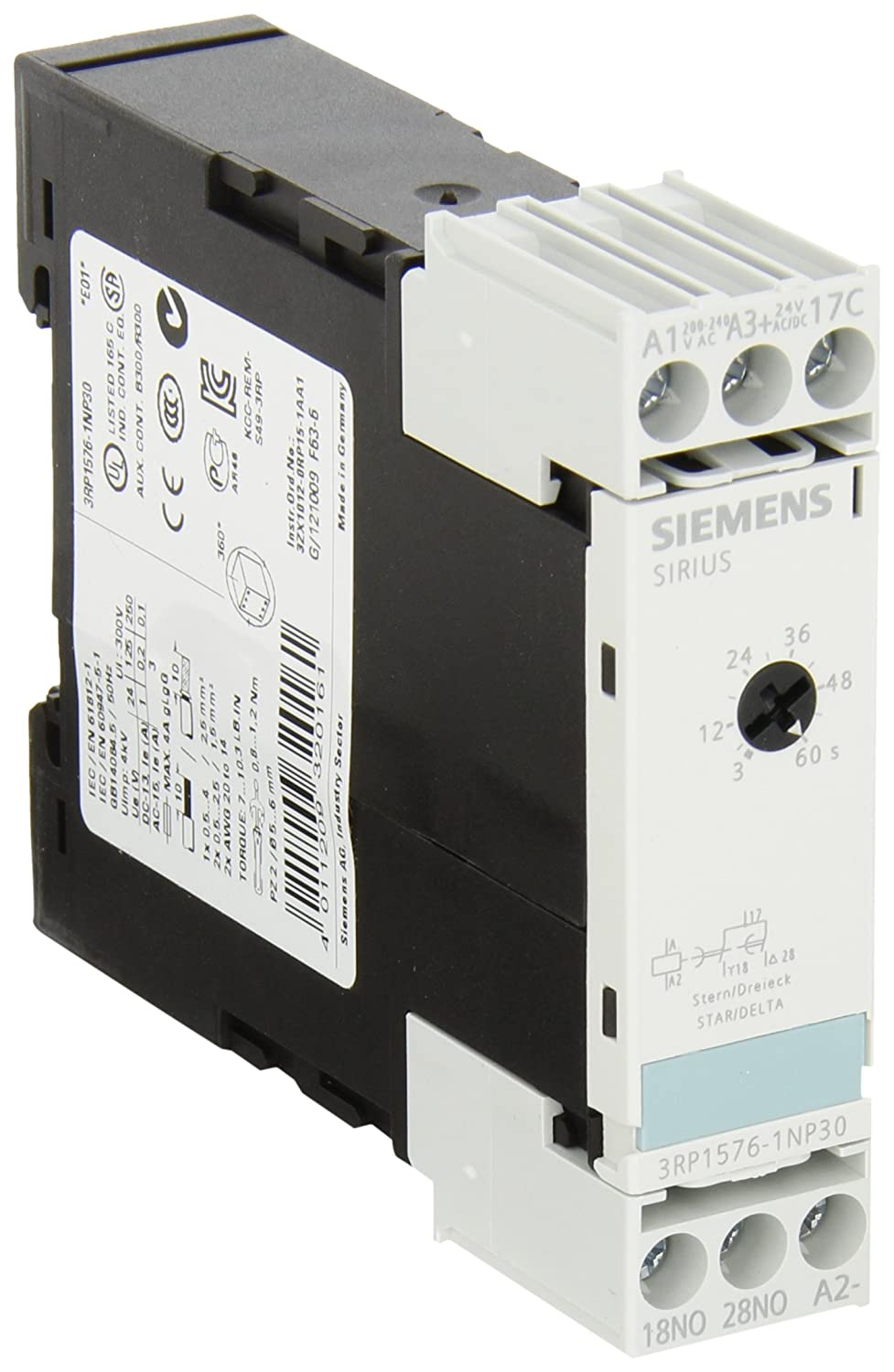 Siemens 3rp1576 1np30 Solid State Time Relay Industrial Housing Harga No Nc 225mm Screw Terminal Star Delta Function 1 Contact Elements