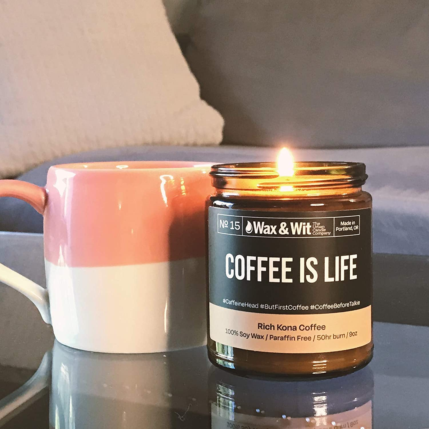 Coffee and Cream Scented Candle  Coffee Candle  Soy Wax Candle  Best Friend Gift  Inspire Candle Shop  Clean Candle