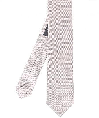 Jules B. Hombres Corbata de seda estampada de MICRO Beige única ...