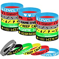 TUPARKA 18 Pcs Video Game Wristbands Rubber Bracelet Game Party Wristbands Supplies for Birthday Party Baby Shower Party…