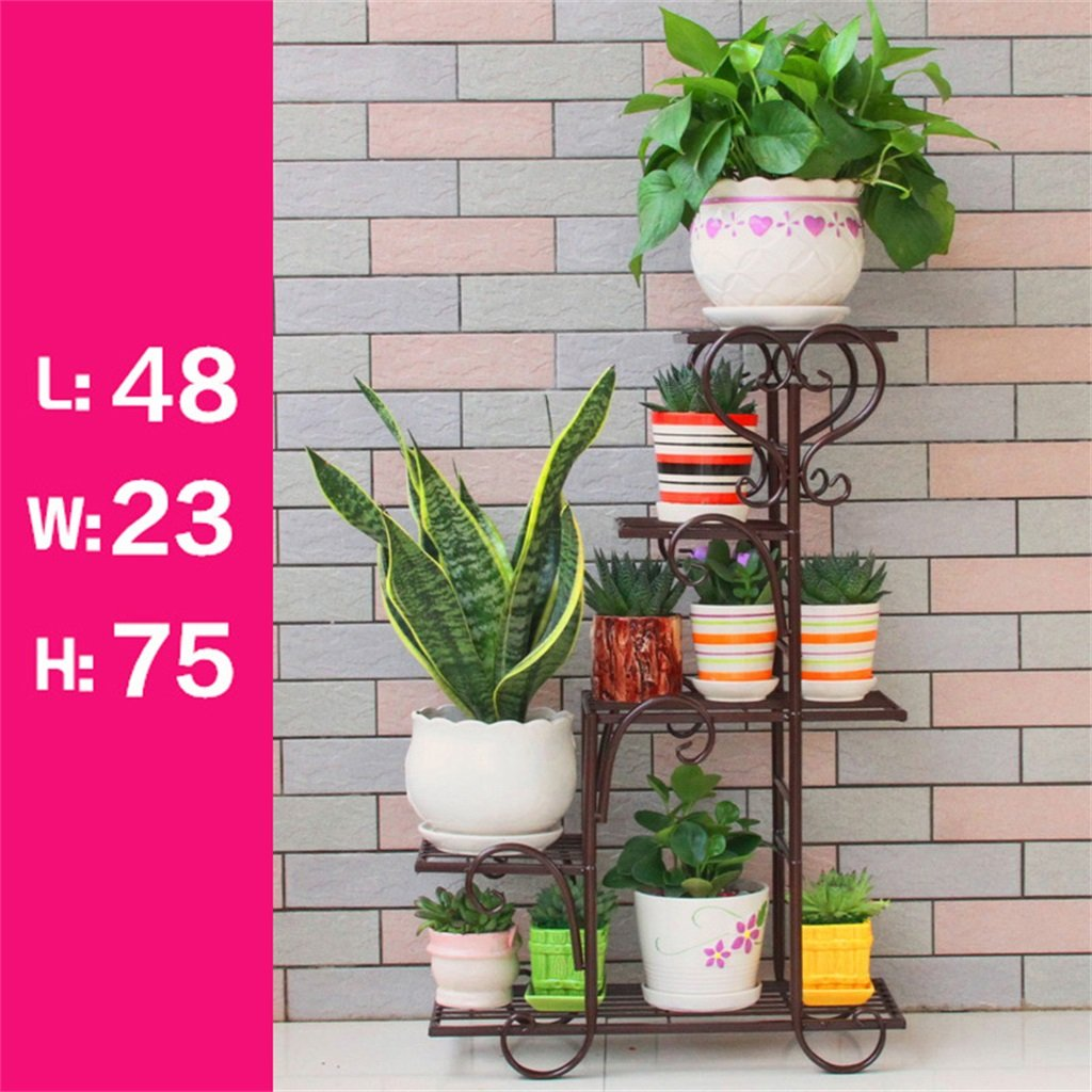 4 Tier Standing Shelf for Plant Flower Pot Stable Plant Stand Support Firmly Garden Storage Shelf for Balcony//Living Room//Outdoor//Indoor G Floral Frame//Outdoor Plant Stand//Iron Metal Flower Racks