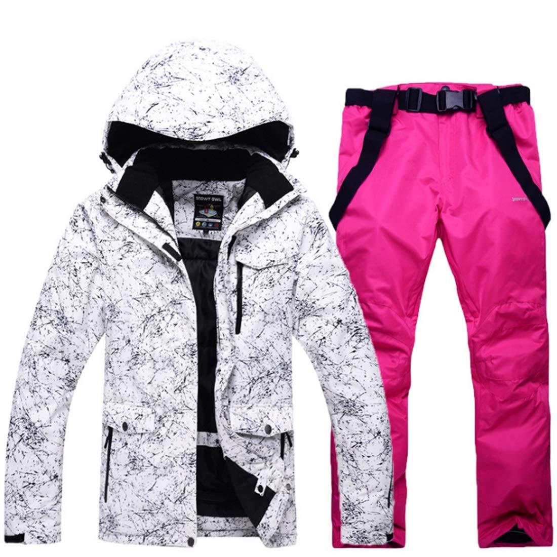 CEFULTY Mens /& Womens Snowsuit Winter Ski Jacket and Pants Set