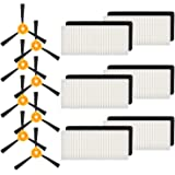 isinlive Replacement Parts Compatible Ecovacs DEEBOT N79 Deebot N79S Robotic Vacuum Accessories - 14 Pack (6 Filter + 8 Side Brush)