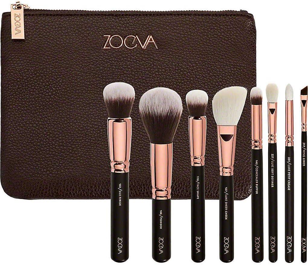 Zoeva Vegan Prime Cosmetic Brush Set 104 Buffer, 106 Powder, 110 Face Shape,  128 Cream Cheek, 142 Concealer Buffer, 223 Petit Eye Blender +226 S:  Amazon.co.uk: Beauty