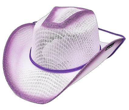 223bd7bcb88 Modestone Kids Straw Cowboy-Hut Chinstring   Sizes For Small Heads   Purple