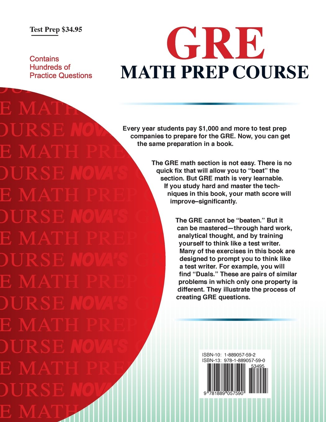 Buy GRE Math Prep Course (Nova's GRE Prep Course) Book Online at ...