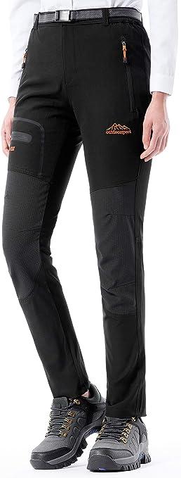 BenBoy Pantalon Montaña Mujer Secado Rápido Impermeable Pantalones Trekking Escalada Senderismo Acampada Transpirables y Ligeros