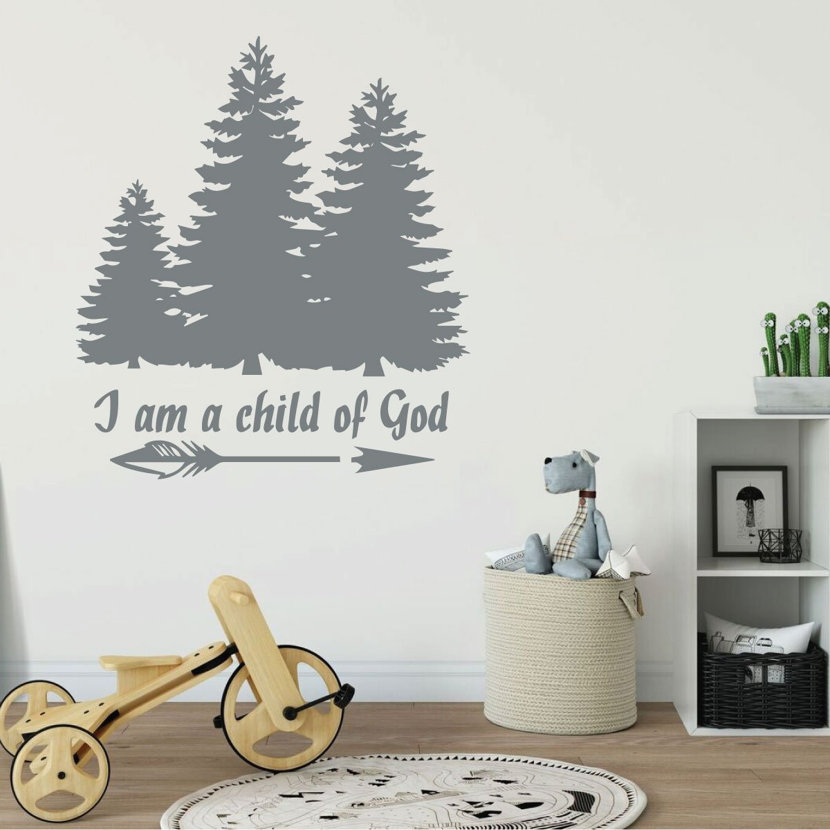 I Am A Child Of God Style 2 wall decal sticker home d/écor 23 x 23