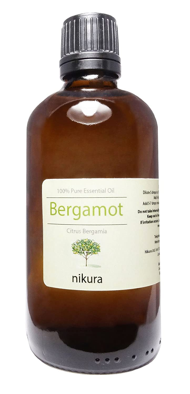 100% Pure Bergamot Essential Oil 10ml, 50ml, 100ml (10ml) nikura