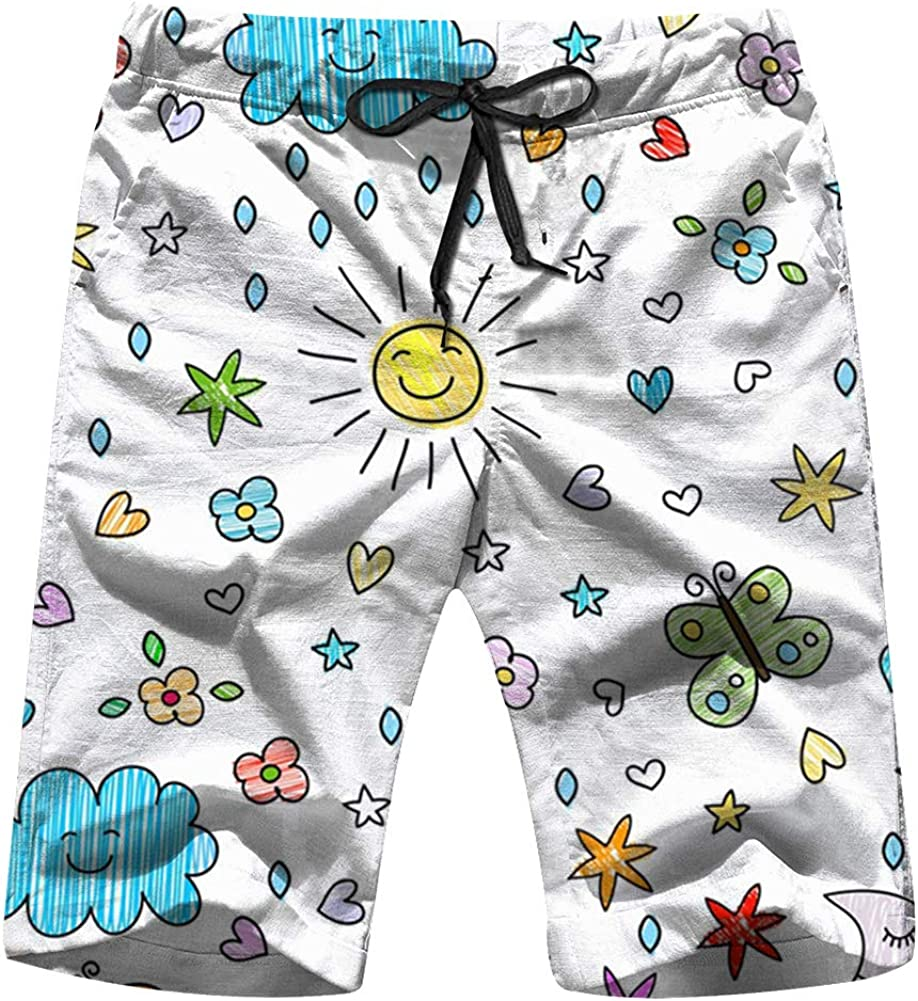 Colorful Kids Nature Swim Trunks for Men Quick Dry Surf Board Shorts No  Mesh Lining Beach Wear   Amazon.com