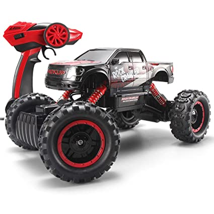 a98e46919c5 Amazon.com  SZJJX RC Cars Rock Off-Road Racing Vehicle Crawler Truck 2.4Ghz  4WD High Speed 1 14 Radio Remote Control Buggy Electric Fast Race  Hobby-Black  ...