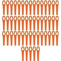 50 cuchillas de plástico para desbrozadora, desbrozadora, desbrozadora, cuchilla de repuesto de plástico, cuchillas de…