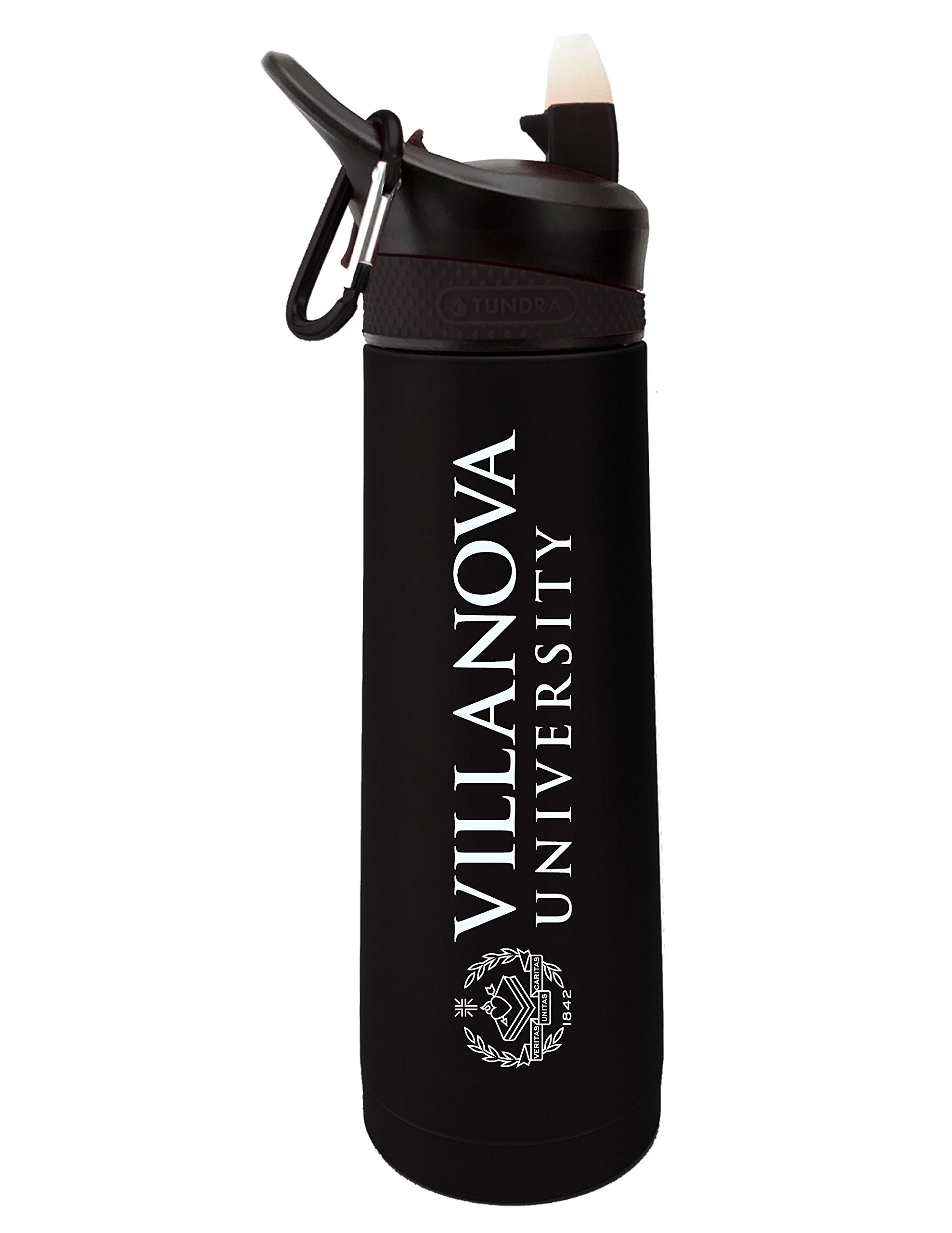Fanatic Group Villanova University Dual Walled Stainless Steel Sports Bottle, Design 1 - Black