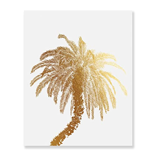 76a04a3959a8 Amazon.com  Palm Tree Gold Foil Decor Wall Art Print Island Tropical Art  Metallic Poster 5 inches x 7 inches C21  Handmade