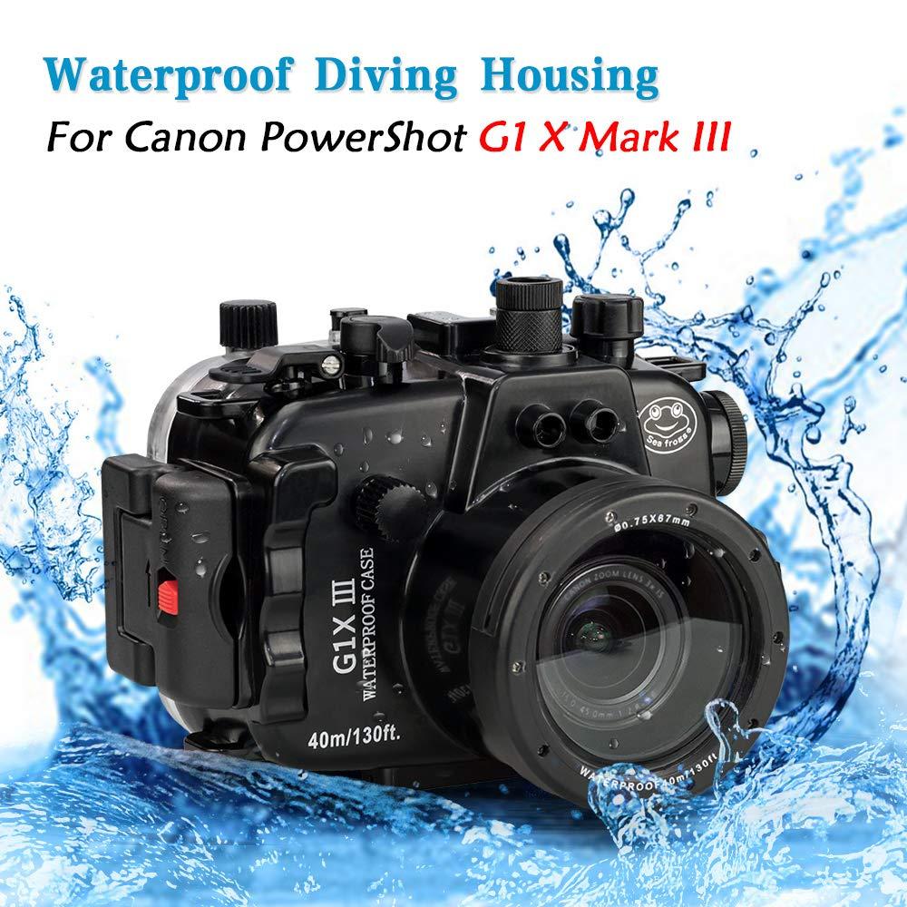 Carcasa submarina para cámara Canon G1X III, 40 m: Amazon.es ...