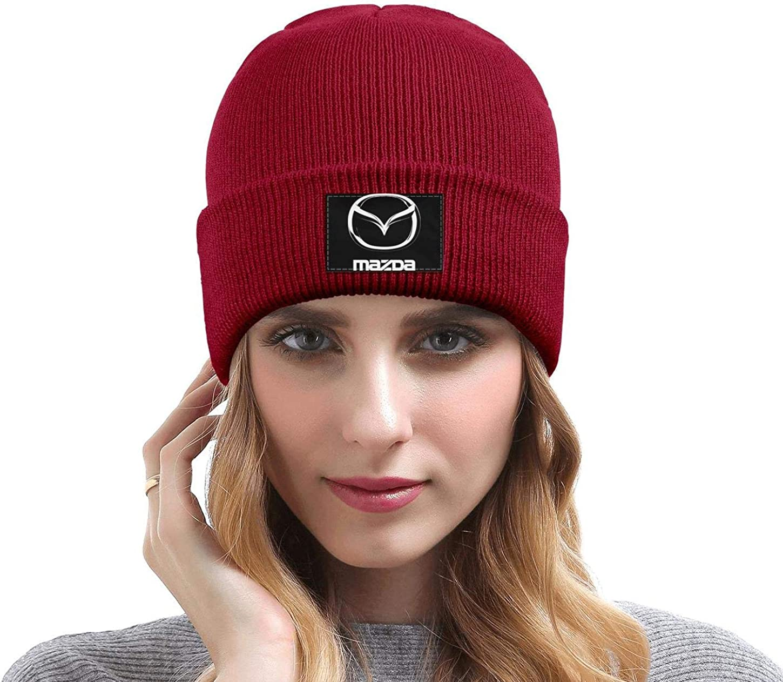 Mens Women Knit Hat Mazda-Logo Style Warm Woolen Sport Ski Cap