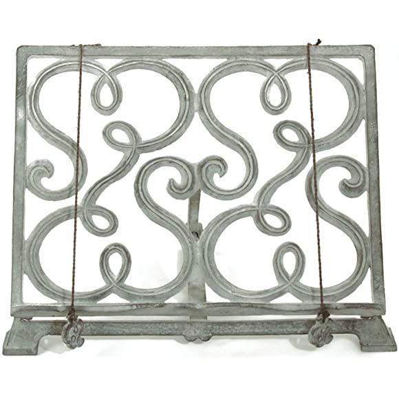 Free standing Green Metal Cook Book Stand