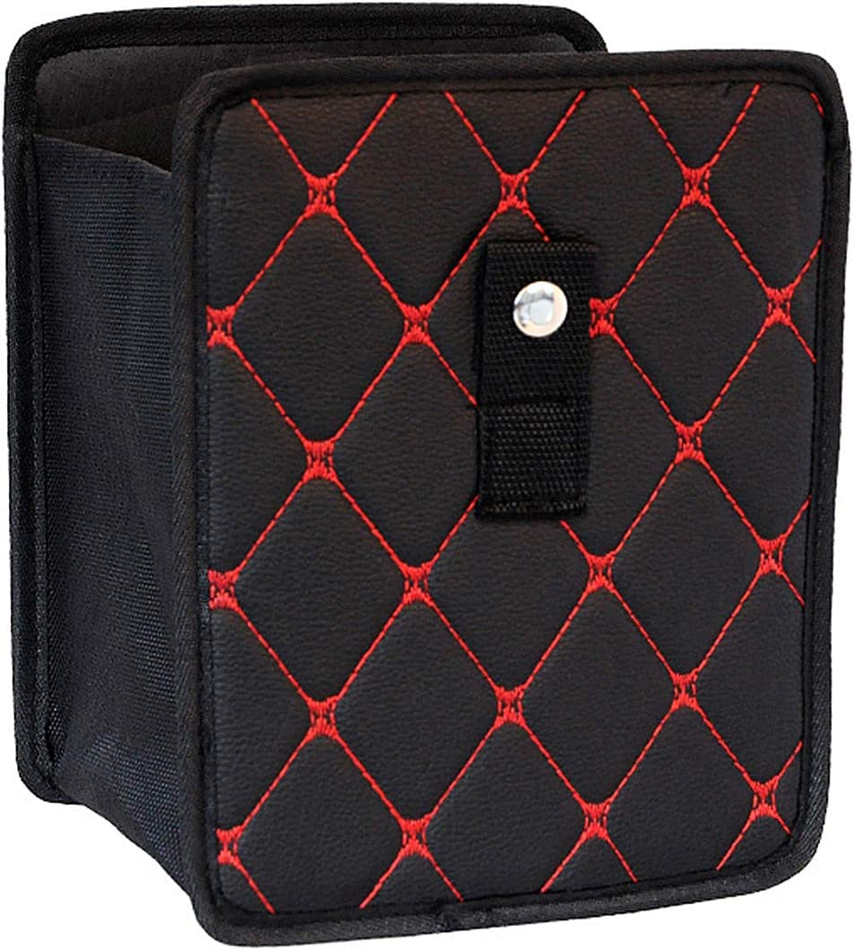 WinPower Leather Trunk Organizers Storage Bag,Red