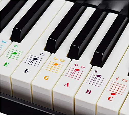 Teclados de piano para teclados 49/61/76/88, transparente y extraíble, incluye E-Book de piano