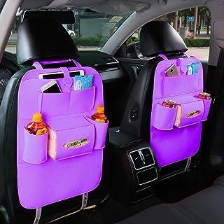 Sac de rangement, tissu de feutre Car Styling Siège suspendu Sacs siège arrière de voiture Sac de voiture produit multifonction pour véhicules de sac de rangement, Violet Winbang