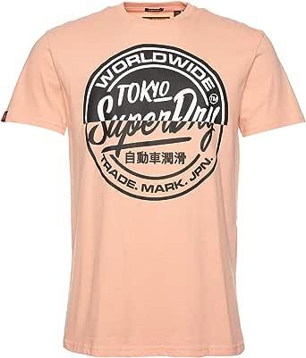 Superdry Hombre Camiseta de Corte Cuadrado Ticket Type
