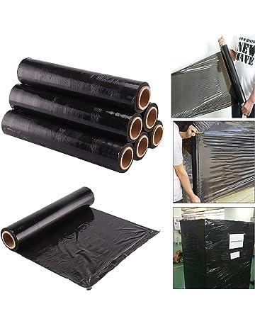 Rollos de film negro elástico para paquetes postales (400mm x 250