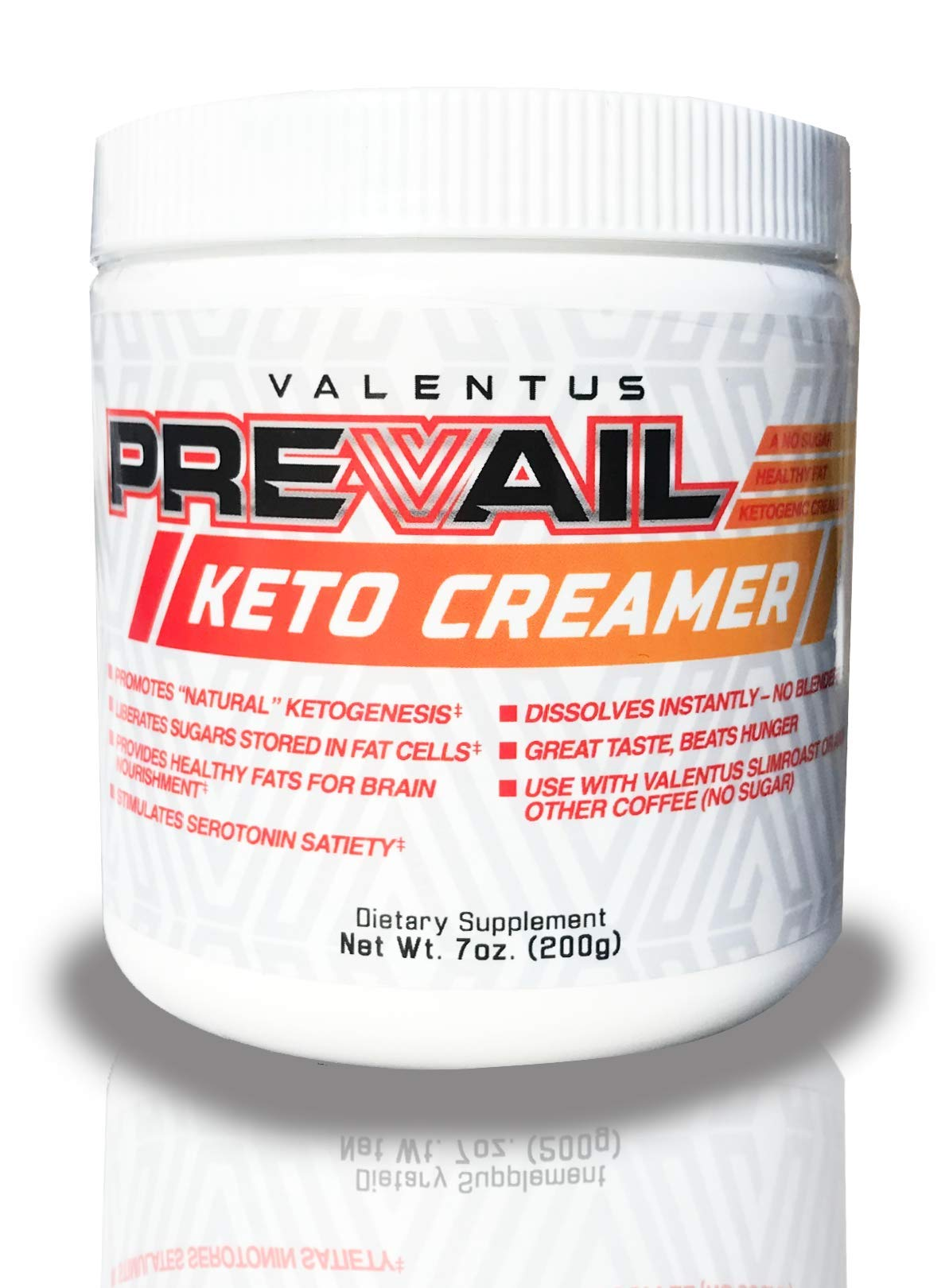 Valentus Prevail Keto Coffee Creamer: Mct Oil Powder 7 Oz | 20 Servings