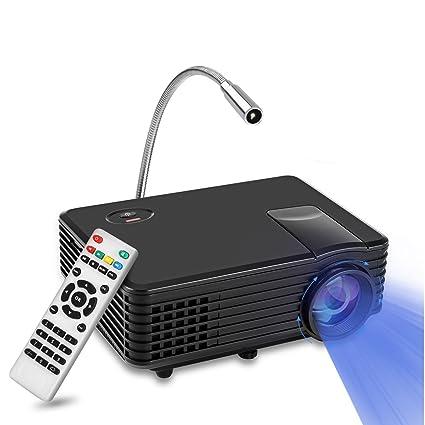 Mini Proyector RD LED, YOKKAO Videoproyector Portátil LED LCD 800x480 soporta 1080p, Home Cinema con puertos para TV / HDMI / USB / VGA + Lamparita ...