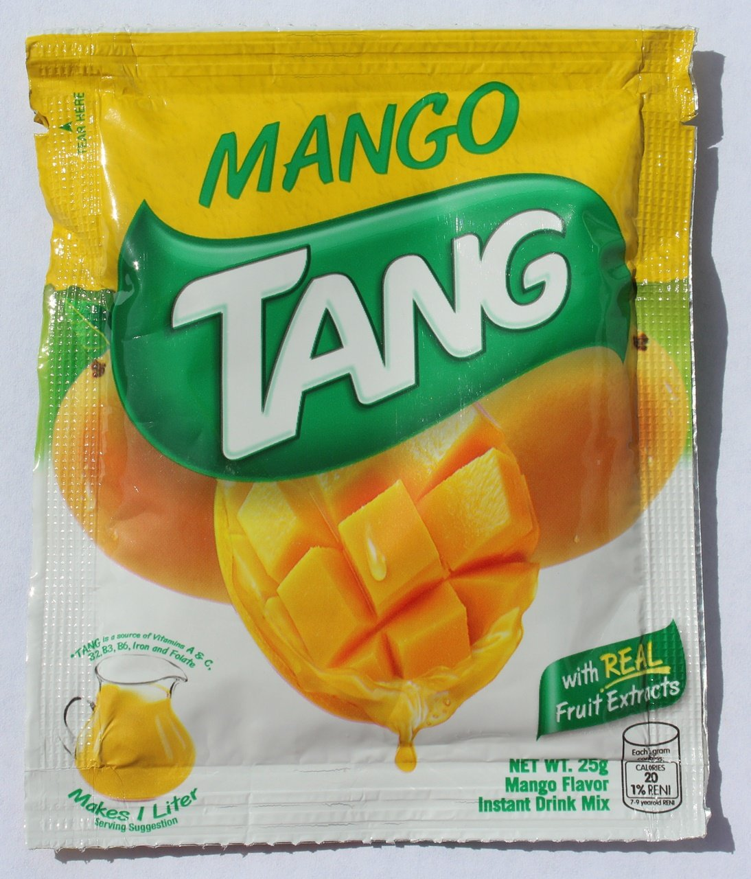 Amazon com : TANG Mango Flavor Instant Drink Mix  25g (from