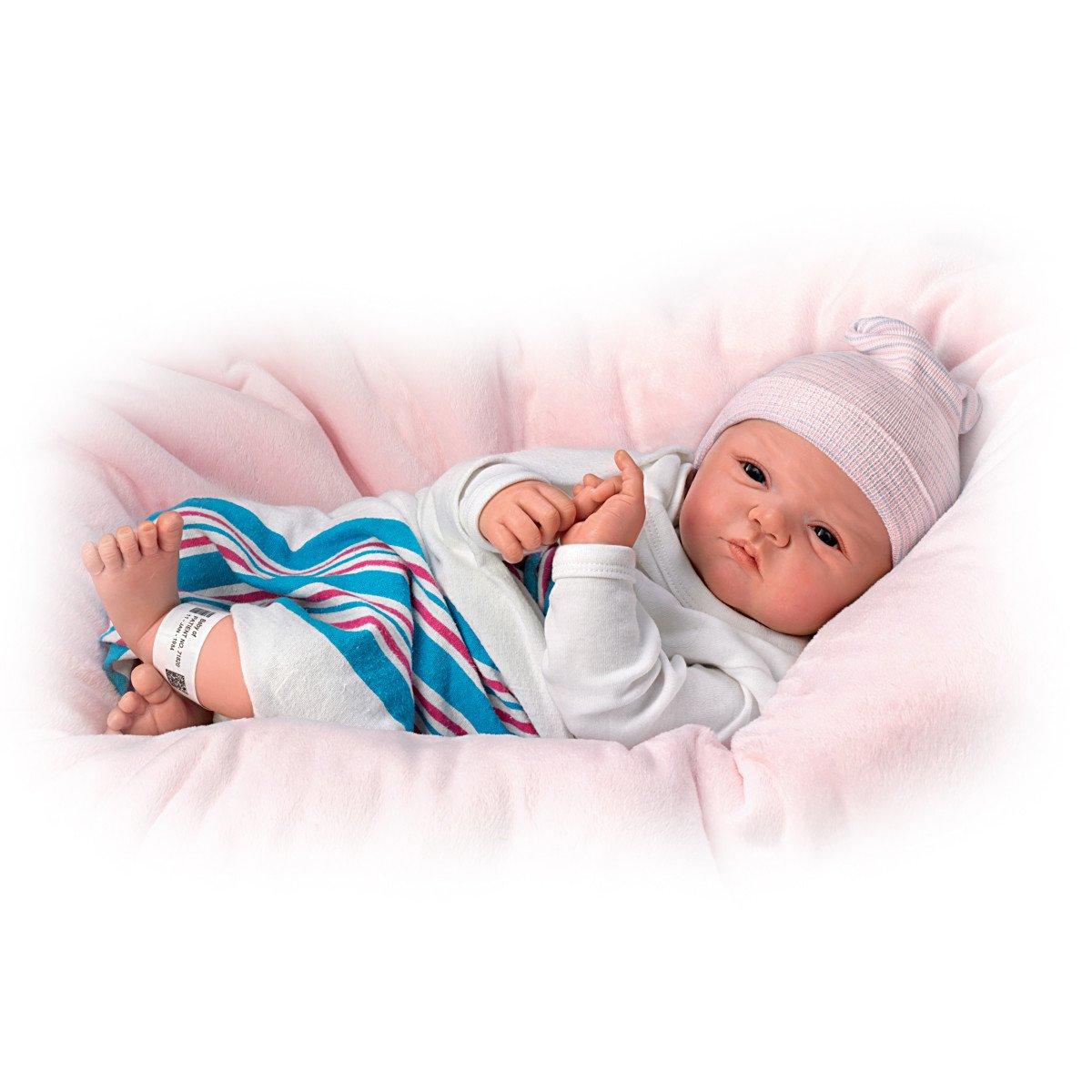 The Ashton-Drake Galleries Sandy Faber Welcome To The World Newborn Baby Girl Doll, 18-Inches by The Ashton-Drake Galleries