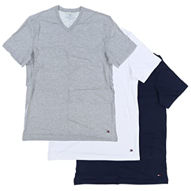 6cfccf8c Tommy Hilfiger Mens 3-Pack Classic V-Neck Tee at Amazon Men's Clothing  store: