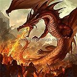 1/4 Sheet ~ Firebreathing Dragon Birthday ~ Edible Image Cake/Cupcake Topper!!!