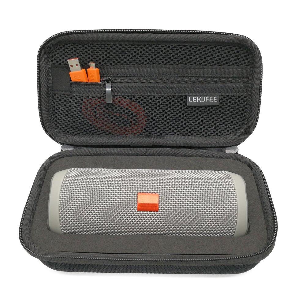 Lekufee Flip3/Flip4 Case, Hard Case Compatible with JBL Flip 3/Flip 4 Bluetooth Speaker