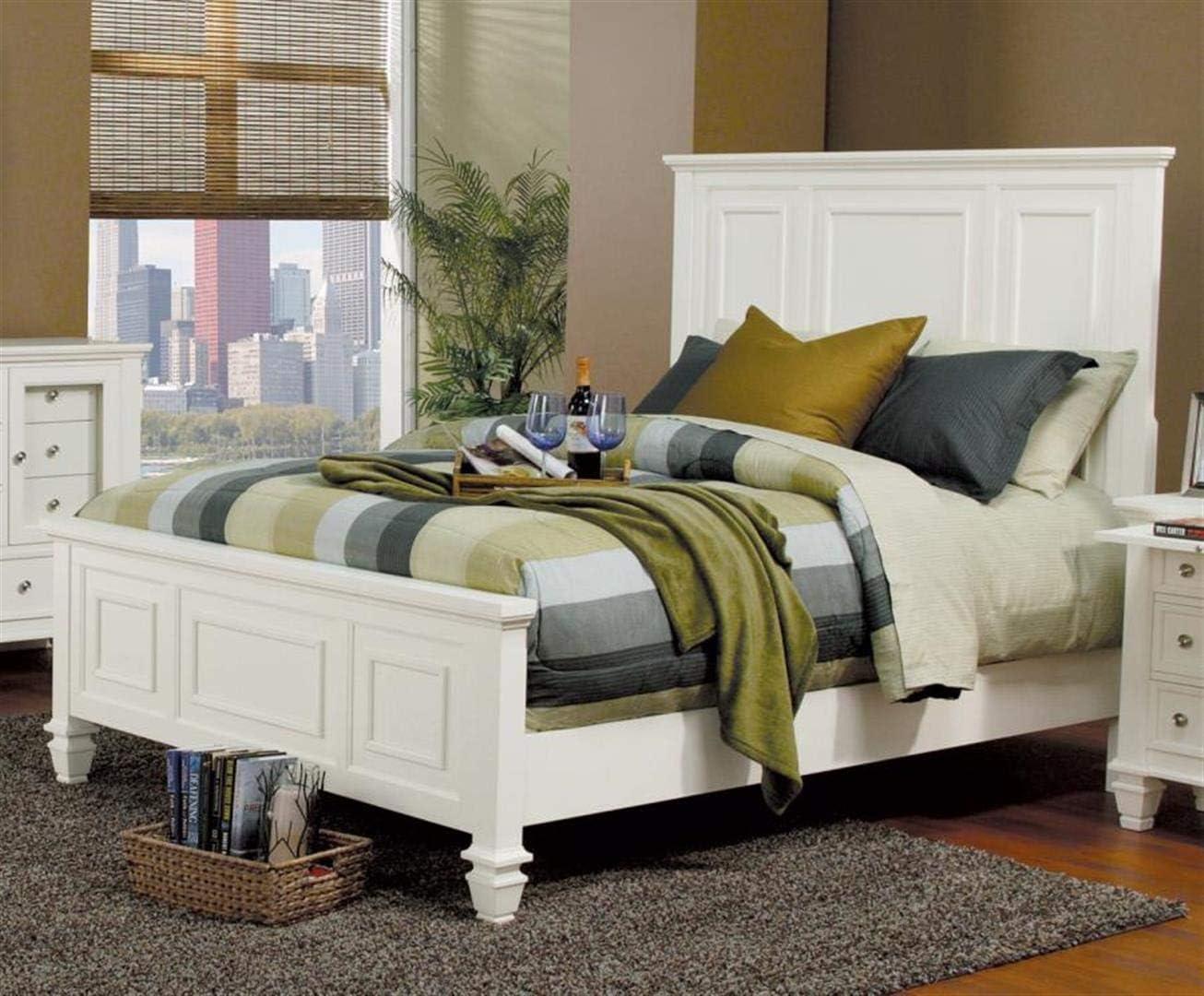 Coaster Home Furnishings Sandy Beach High Headboard White Queen Bed