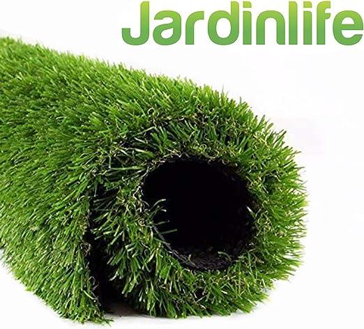 JARDINLIFE Césped Artificial Amsterdam Rollo 2x10 m de 40 mm para Exterior e Interior, Niños y Perros: Amazon.es: Jardín