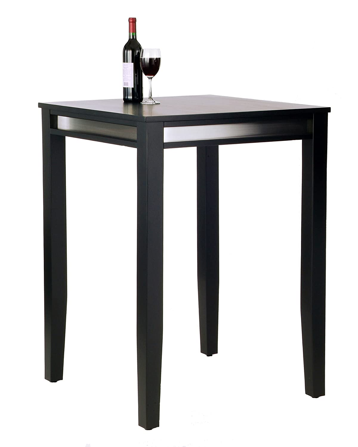 Amazoncom Home Styles Manhattan Pub Table Black Kitchen Dining