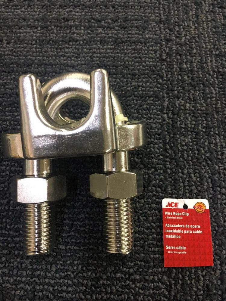 Ace Hardware Stainless Steel Wire Rope Clip Clamp 1'' 1 Inch
